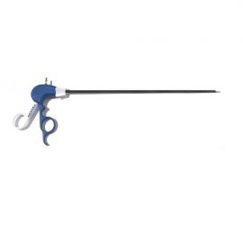 Vectec | Tijera Metzembaum curva descartable 5 mm x 330 mm para cirugía laparoscópica